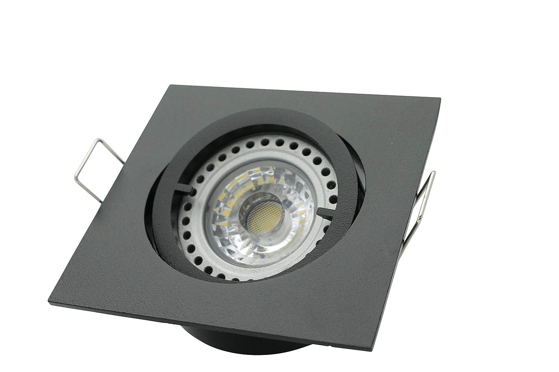 Einbaustrahler LED Einbauspot Einbauleuchte schwarz chrom Diele Wohnzimmer