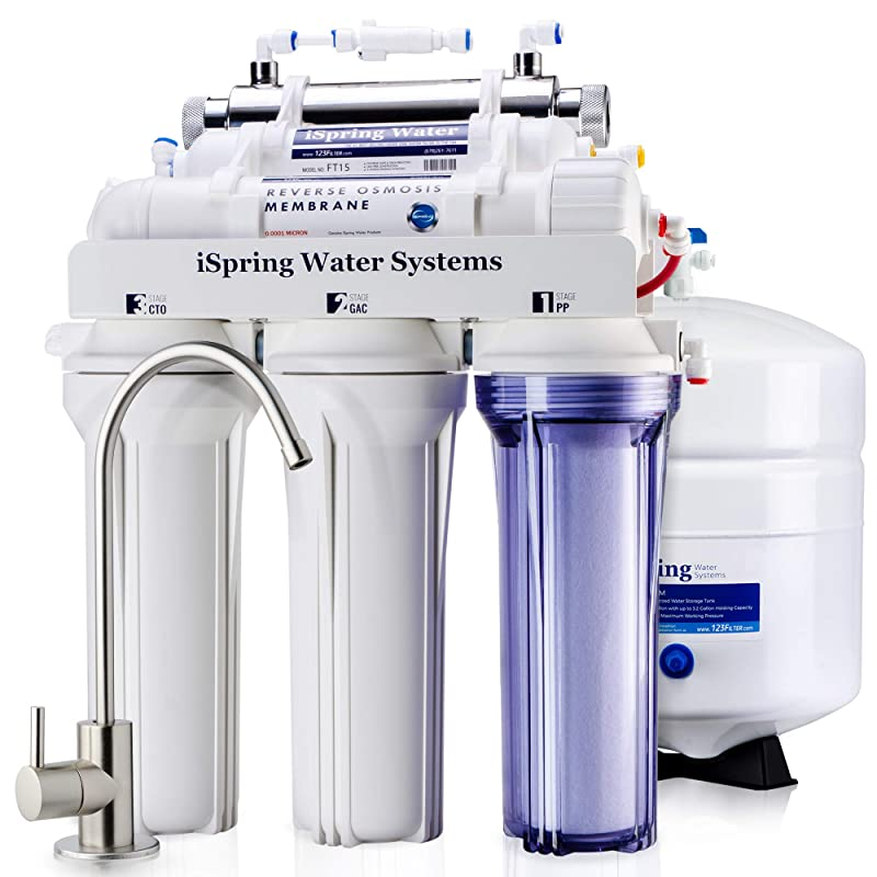 iSpring RCC7U Reverse Osmosis System [UV Sterilizer]