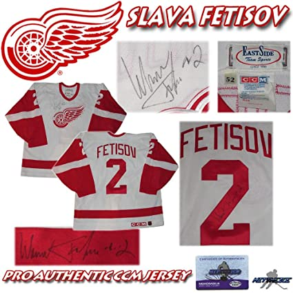 Viacheslav Fetisov Autographed Jersey - CCM PRO w COA - Autographed ... 83e2da47419