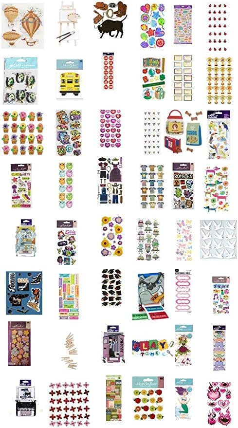 HUGE Lot of 75 K/&Company,Sticko,Jolee/'s,Stickers and Scrapbooking embellishments