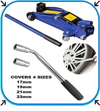 SiKy Kit de Herramientas de reparación de neumáticos, 2 Tonos hidráulico Trolley Floor Jack +
