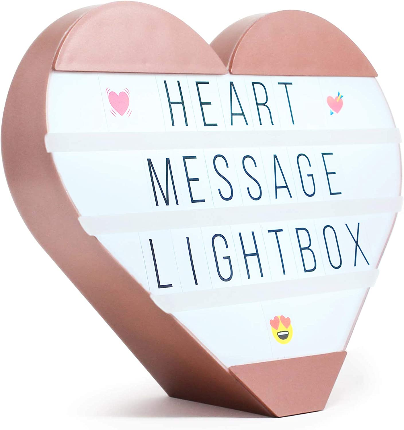 Hearth & Haven Heart Cinema Light Box Light Up Sign Marquee Changeable Letter Board with Letters