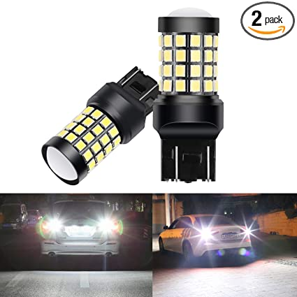 6000K, 2 PACK OXILAM Backup Reverse Lights 7440 7443 LED Bulbs 2000 Lumens Ultra Bright 7441 W21W T20 LED Bulb for Tail Lights or DRL