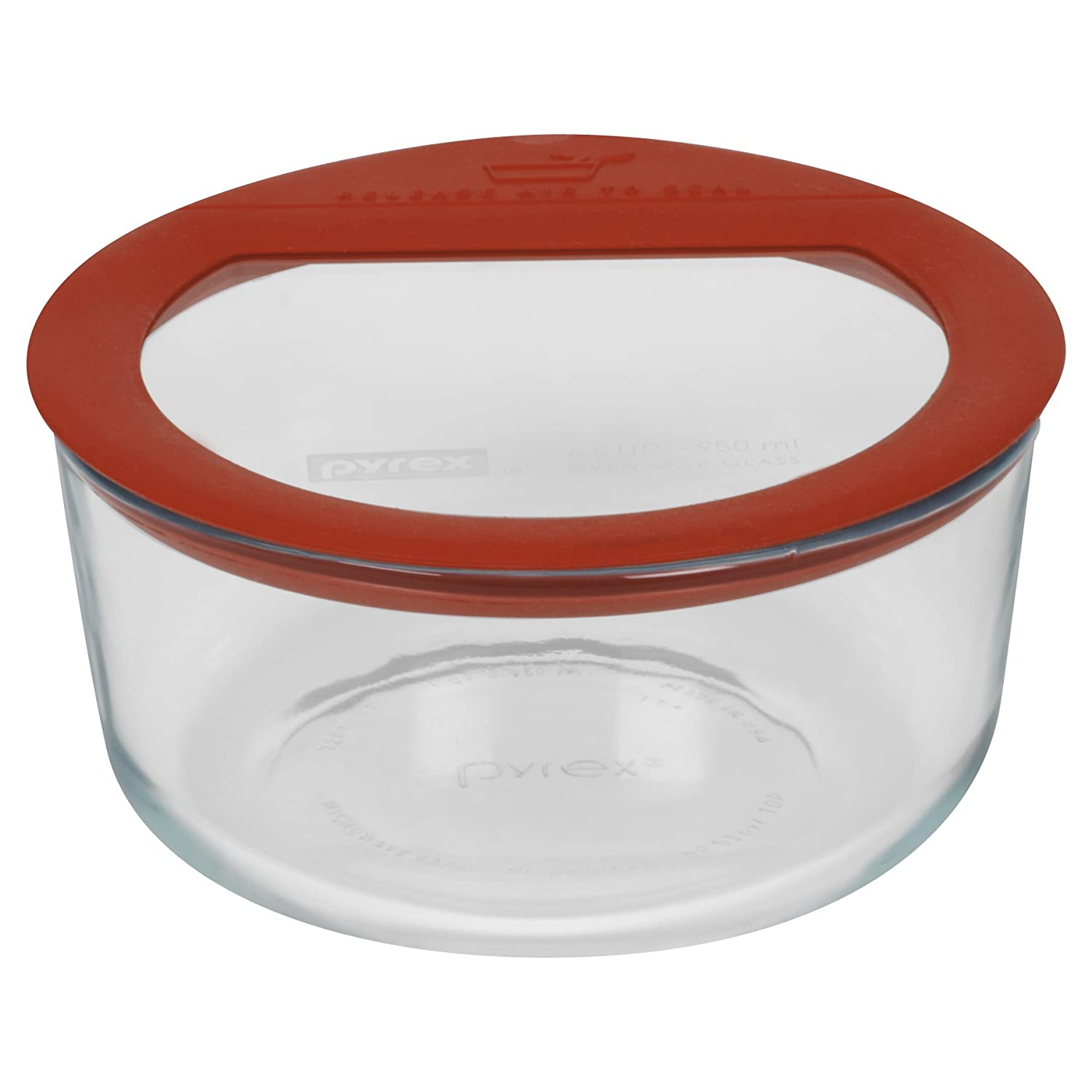 Pyrex Premium 4-Cup Round Glass Food Storage World Kitchen (PA) 1095691