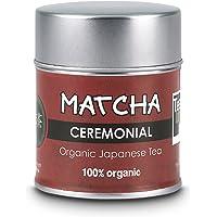 Te Matcha Ceremonial   Lata 30 g   100% Polvo Puro Japones   Te Matcha Organico Certificado   Te Verde Matcha de Grado…