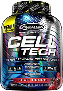 MuscleTech Creatine Monohydrate Fruit Punch Powder 6 lbs (56 Servings)