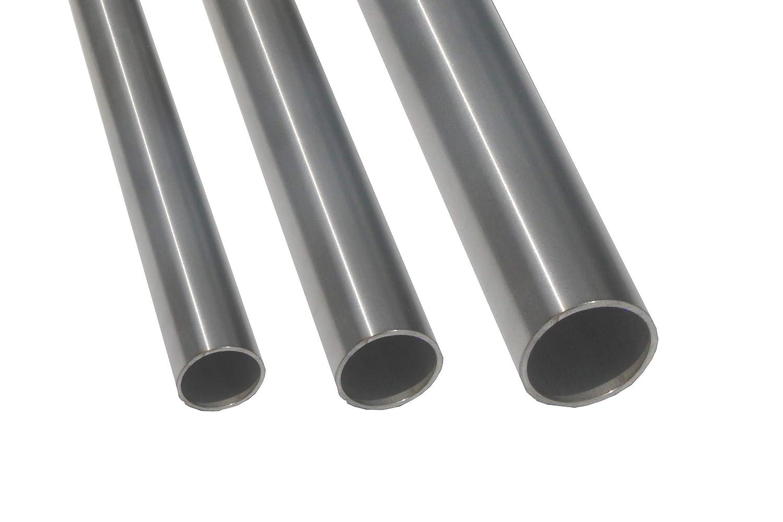 300mm 30cm L/änge:0.3m Edelstahlrohr V2A Edelstahl Gel/änder Rohr Rundrohr 30x2mm geschliffen Korn 240 bis 2m L/änge w/ählbar