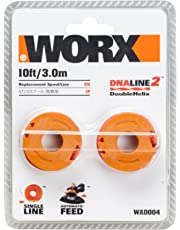 WORX WA0004 Spool & Line 2-Pack Replacement Grass Trimmer Spool & Line 1.3m to Suit WG154E, WG157E, WG169E, WG163E