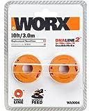 WORX WA0004 Replacement Grass Trimmer Spool: WG154E, WG157E, WG169E, WG163E