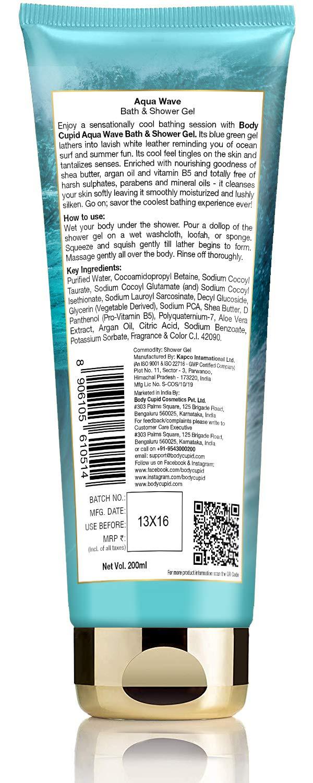 Aqua Wave Shower Gel with Shea Butter, Argan Oil and Vitamin B5
