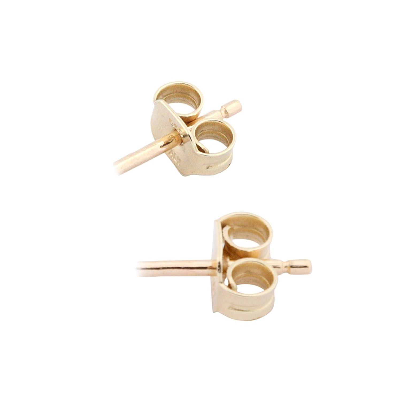 UNICORNJ Childrens 14k Yellow Gold Open Flower Dangle Post Earrings Italy