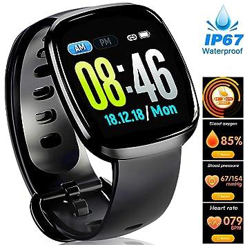 Women Pedometer Smart Watch - Full Touch Screen Waterproof Fitness Tracker | Heart Rate Blood Pressure Oxygen Sleep Monitor Watch | GPS Sport Business ...