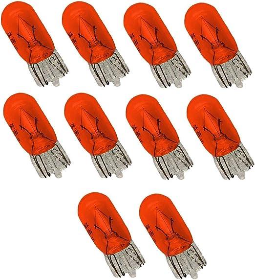 Unbekannt 10 Stück T10 Lampe Lima W5w 5 Watt Seiten Blinker Glühbirne Orange Gelb Auto