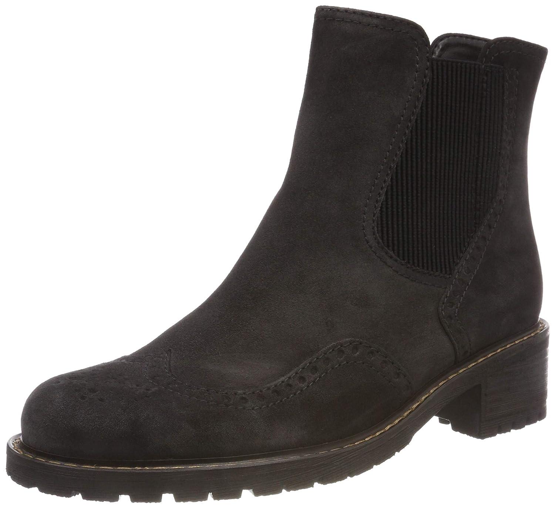 Grau (Dark grau (Mel.) 39) Gabor Damen Comfort Basic Chelsea Stiefel