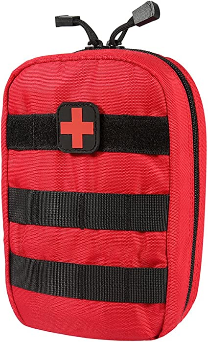 Tactical Military Molle Medical Pouch First Aid Pouch Bag Utility Tool Pouch Red