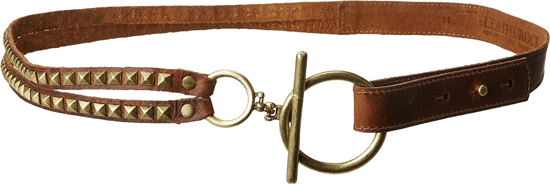 38 Waist Leatherock Womens Roxy Belt Cognac XL