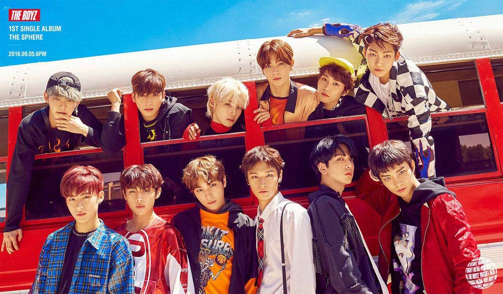 THE BOYZ [THE SPHERE] 1st Single Album 2 Ver SET+POSTER+2ea Photo Book(each 84p)+2p Post Card+2ea Frame+2p Photo Card+2p Sticker+Tracking Number K-POP SEALE