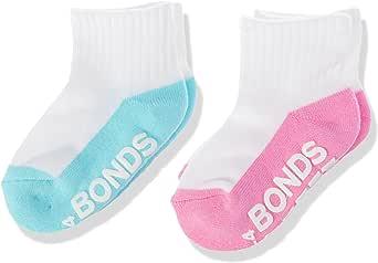 Bonds Baby Logo Quarter Crew Socks (2 Pack)