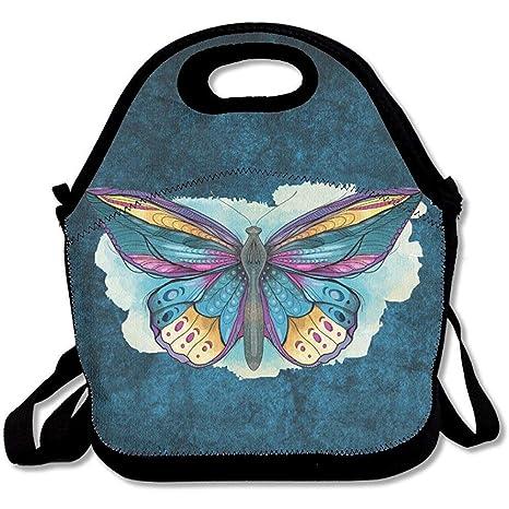 Bolsas de almuerzo de neopreno con diseño de mariposas ...