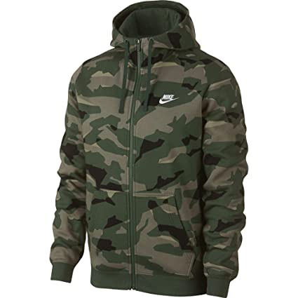 dbbef2cb6 Amazon.com: M NSW CLUB CAMO HOODIE FZ BB Men's Full-Zip Camo Hoodie: Sports  & Outdoors