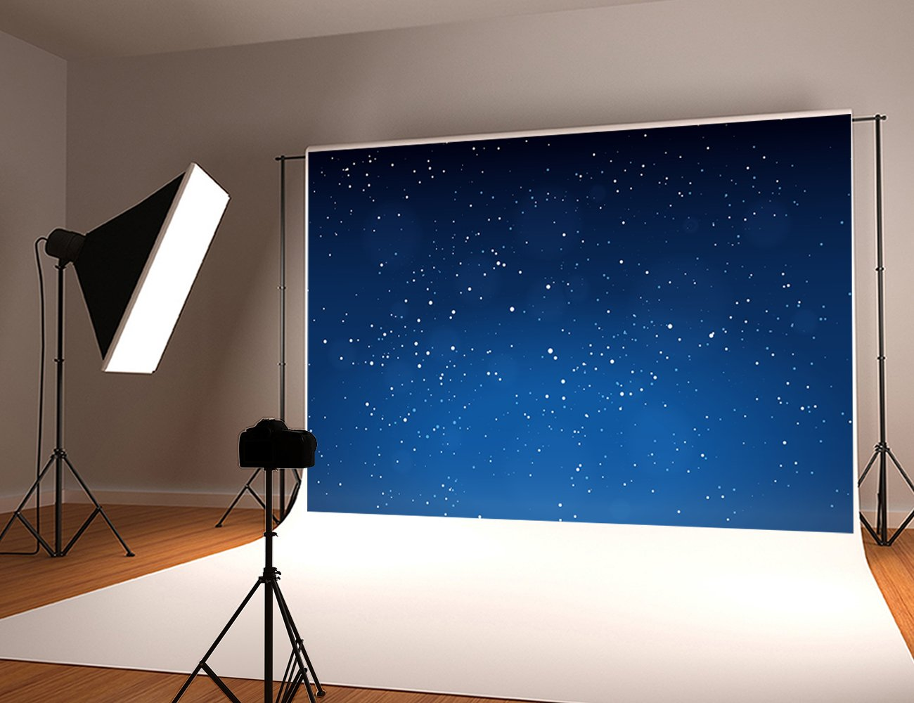 Kate 10x10ft Night Sky Photography Backdrops Bright Stars Background Microfiber Fantasy Photo Studio Backdrop by Kate