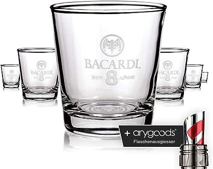 6 x Bacardi Rum Cristal Vasos Long Drink Ron 8 anos Cóctel ...
