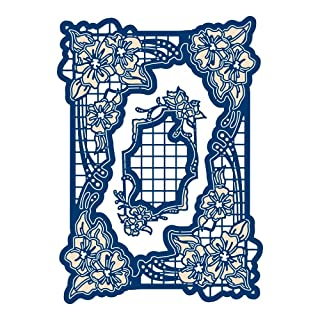 Tattered lace Woodside Bloom Rectángulo, Plata Craft Channel Productions Ltd TLD0630