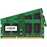 Crucial 16 GB (8 GB x 2) DDR3 1333 MT/s (PC3-10600) SODIMM 204-Pin Memory Kit