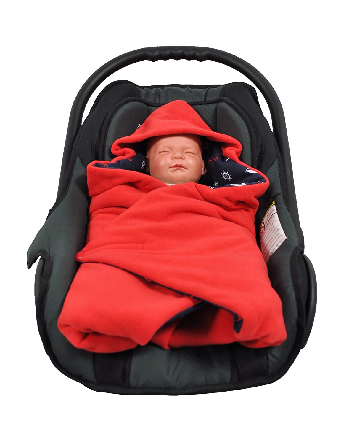 Small, Red Marine HOBEA Baby Seat Wrap Blanket