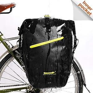 Rhinowalk Bike Bag Waterproof Bike Pannier Bag,(for Bicycle Cargo Rack Saddle Bag Shoulder Bag Laptop Pannier Rack Bicycle Bag Professional Cycling Accessories)