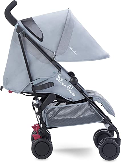 Silver Cross Pop Stroller, Compact and Lightweight Pushchair – Quarry