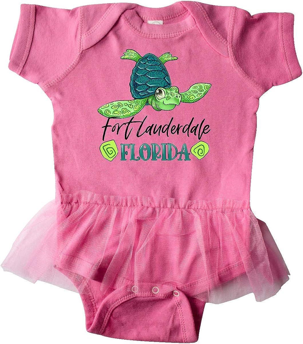 inktastic Fort Lauderdale Florida Happy Sea Turtle Infant Tutu Bodysuit