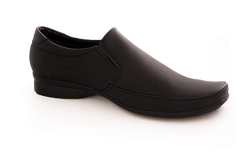 Buy Leeport Black Mens Slip-On Shoes at