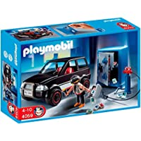 Playmobil- Thief with Safe and Getaway Car Ladrón