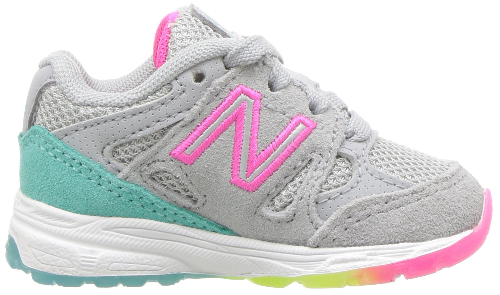 New Balance Girls' 888v1 Running Shoe, Silver Mink/Rainbow, 6 W US Big Kid by New Balance (Image #7)