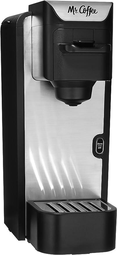 Amazon Com Mr Coffee Bvmc Sc100 2 Single Serve Coffee Maker Black With Silver Panel Kitchen Dining