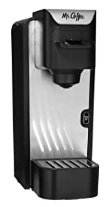 Mr. Coffee BVMC-SC100-2 Single-Serve Coffee Maker, Black with Silver Panel