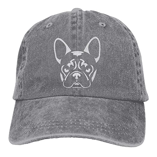 26a90cce9bd KWISISI French Bulldog Unisex Embroidered Cowboy Hat Unstructured Dad Hat