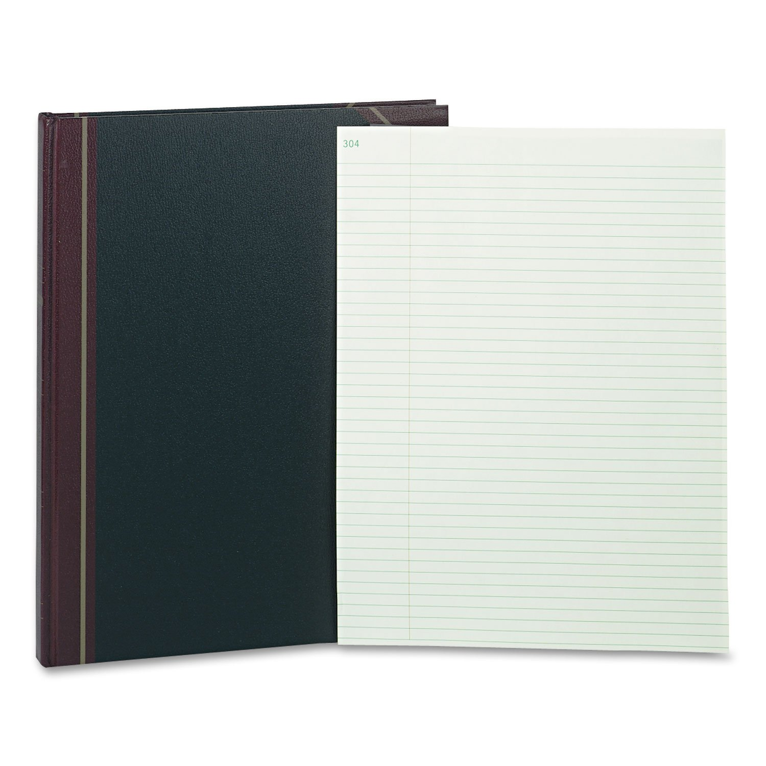 Rediform 58400 Texhide Record-Ruled Book 14-1/4 x 11-1/4 Eye-Ease GN 300 Sheets