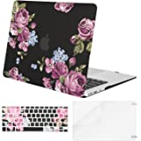Mosiso Plastic Pattern Hard Case Shell with Keyboard Cover with Screen Protector for MacBook Air 11 Inch (Models: A1370 and A1465), Peony