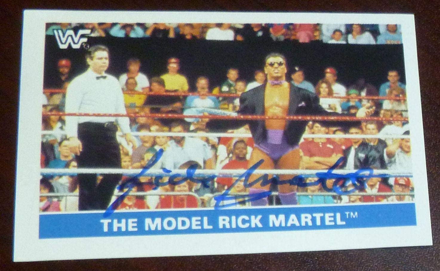 Rick Martel Signed 1991 Stickers WWF Card #70 WWE Autograph EuroFlash The Model