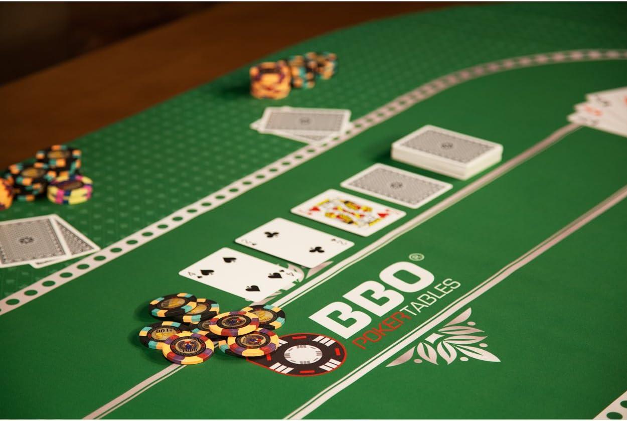 Green BBO Poker Portable Poker /& Game Mat for 8 Players