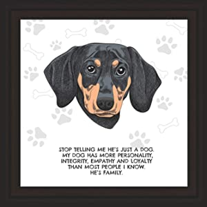 Dachshund Gifts | 7x7 Tile Artwork Ideal for Dachshunds Lover | Weiner Dog Decor Gift Ideas | Puppy Decorations for Home | Presents for Dogs Lovers | Perfect for Men & Women