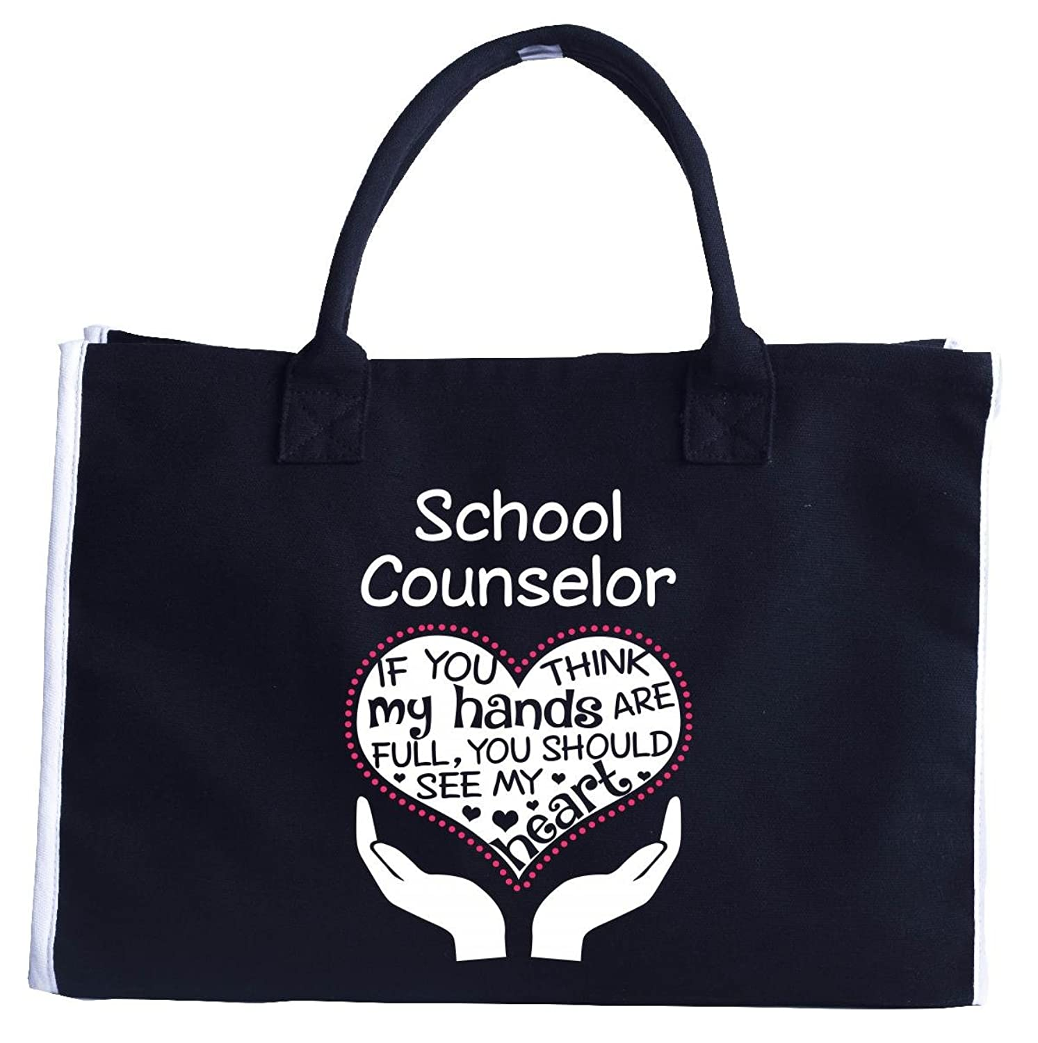 Heart Of A School Counselor. Cool Birthday Gift - Fashion Customized Tote Bag