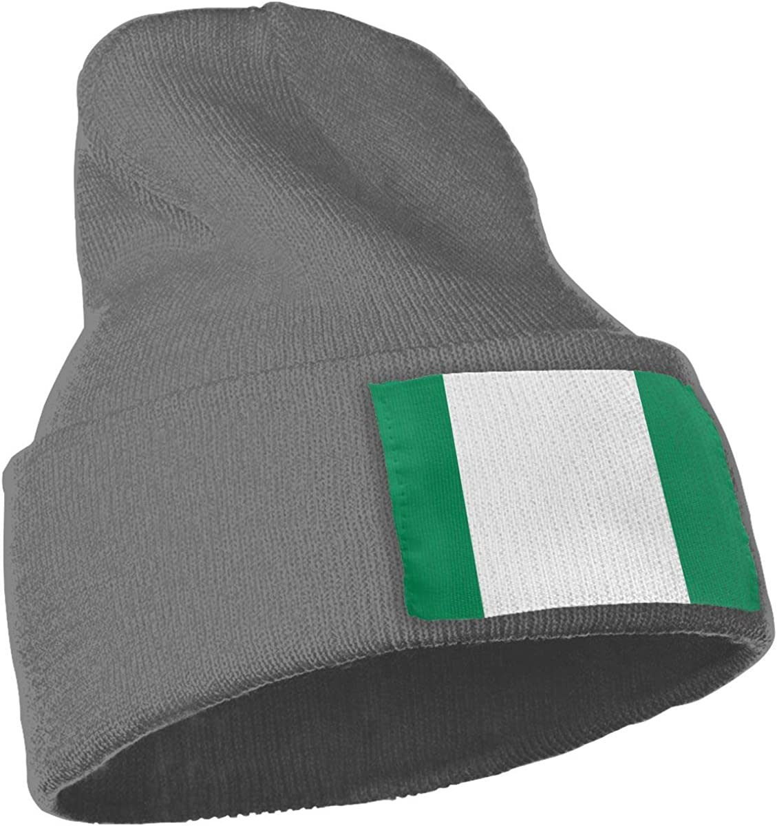 TAOMAP89 Unisex American Nigerian Flag Skull Caps Men /& Women Winter Warm Stretchy Knit Beanie Hats