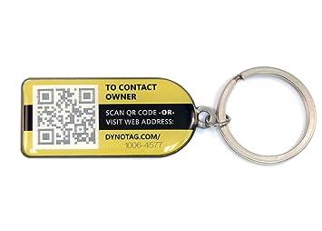 dynotag Web/GPS permitido código QR Deluxe llavero smarttag ...