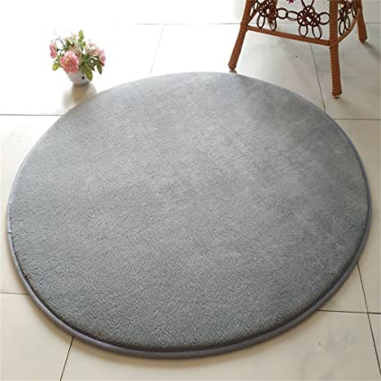 Amazon Com Area Decorative Rugs For Living Room Silver Gray Round
