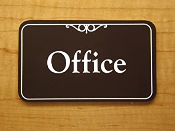 Custom Engraved 3x5 Office Suite Sign Plaque | Adhesive Back | Personalized  Home Business Unit