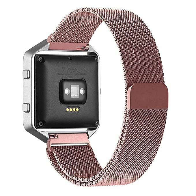 Amazon.com: BESSKY Milanese Magnetic Loop Bands Strap Bracelet for Fitbit Blaze Smart Fitness Watch, Pink: Bessky: Watches