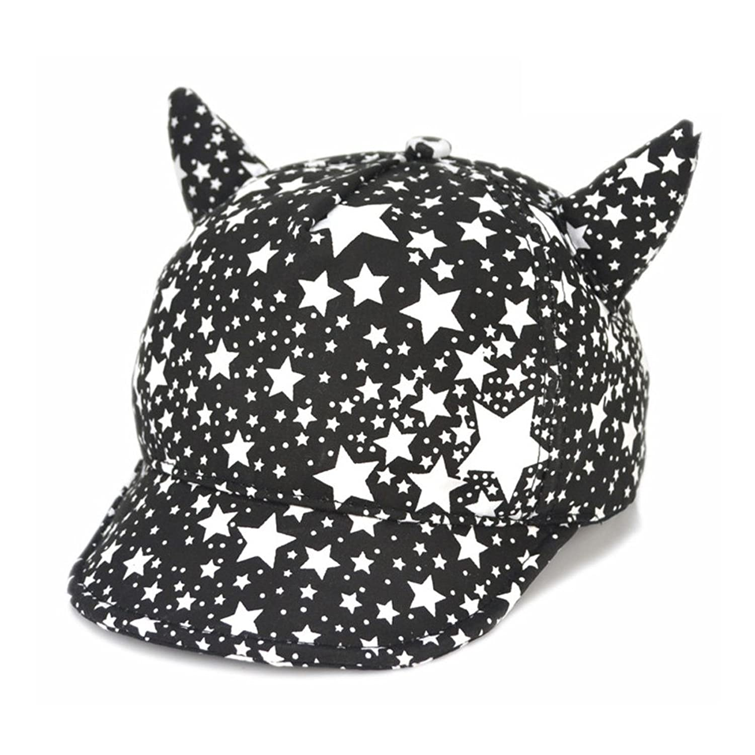 new Funbase Infant Newborn Baby Boy Girl Stars Print Baseball Hat Devil Beret Cap big discount